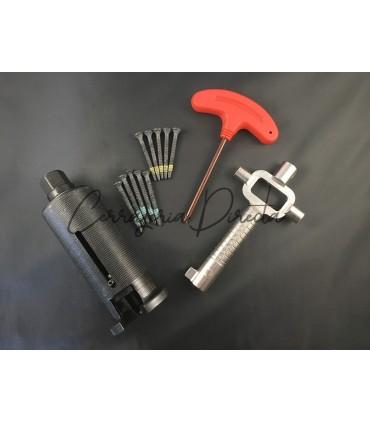 Kit extractor de bombines con 12 tornillos