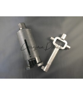 Extractor de bombines con llave de leva metálica