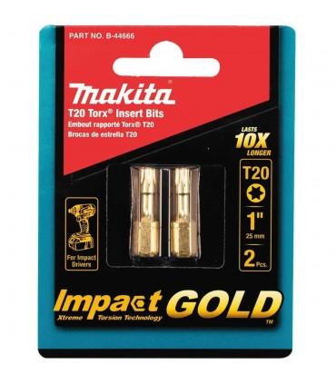 Punta Torx20 Gold Makita x10 más duradera